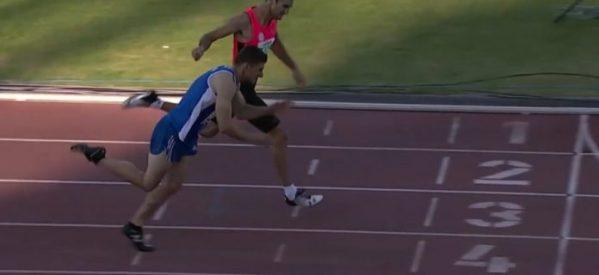 Φοβερό φίνις ο Κώστας Νάκος στα 400 εμπόδια πήρε την πρωτιά στο Πανελλήνιο (Video)