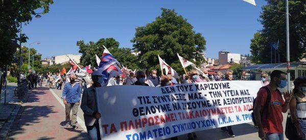 """Τρίκαλα: """"Κάτω τα χέρια από το οκτάωρο""""- Νέα κινητοποίηση σωματείων και εργαζομένων"""