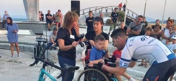 Ολοκληρώθηκε η ποδηλατική διαδρομή από τα Τρίκαλα στον Βόλο για τον Γιωργάκη και τον ποδηλάτη Άγγελο Κριτσιώτη