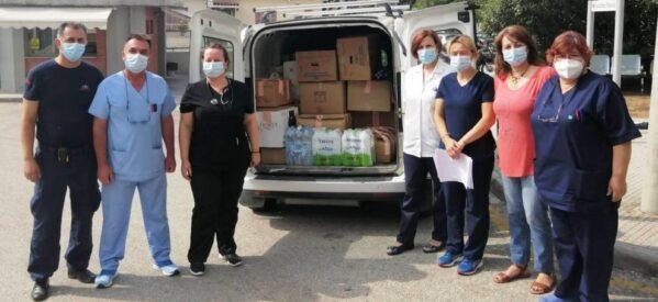 Είδη πρώτης ανάγκης για τους πυρόπληκτους συγκέντρωσαν εργαζόμενοι του Νοσοκομείου