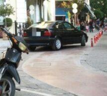 Δεν υπάρχει σωτηρία – «επικό» …παρκάρισμα στα Τρίκαλα
