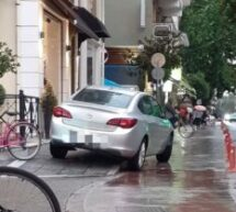 """Τρίκαλα – """"Μάγκας"""" … πάρκαρε σε ράμπα ΑμΕΑ"""