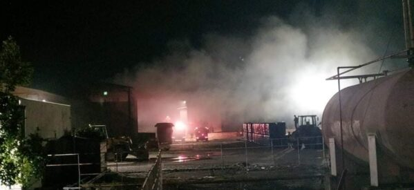 Αναστάτωση από φωτιά στο εκκοκκιστήριο της ΕΑΣ στο Μεγαλοχώρι